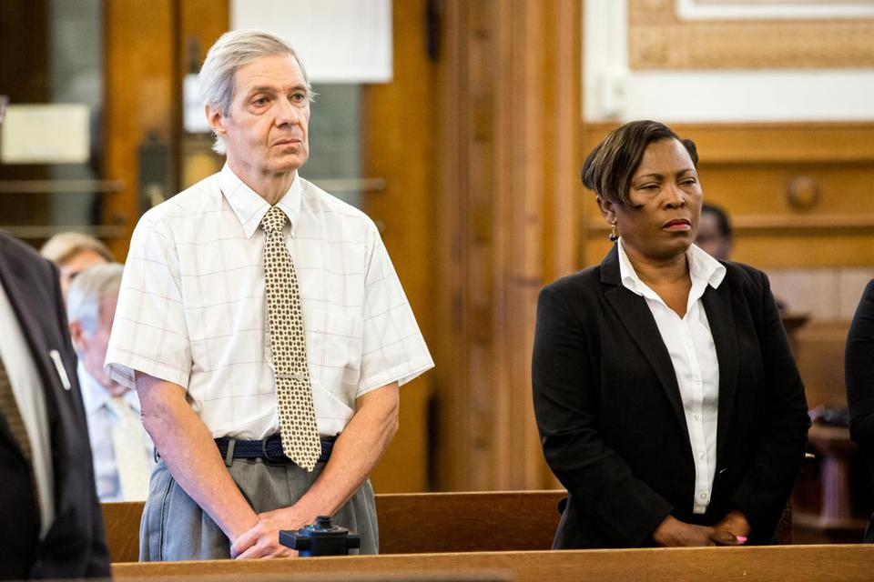Robert Berry (left) and Dania Antoine-Guiteau (right) were arraigned at Norfolk Superior Court in Dedham.